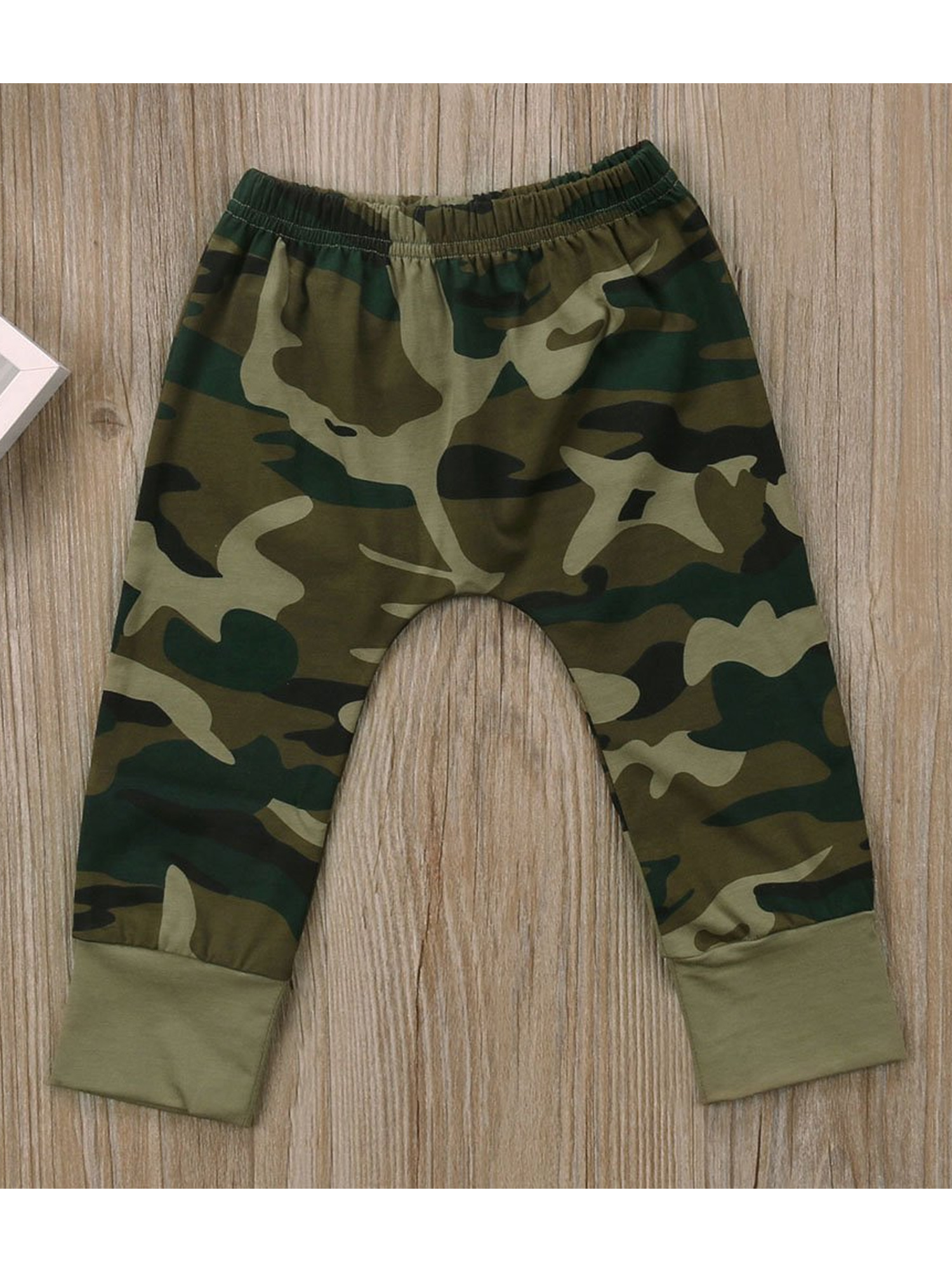2 Styles Baby Boy Girl Camouflage Short Sleeve T-Shirt Tops+Green Long Pants Outfit Casual Outfit