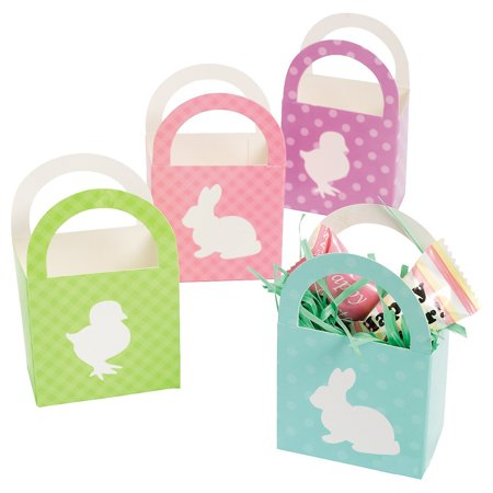 Mini Paper Easter Baskets - 12 Count