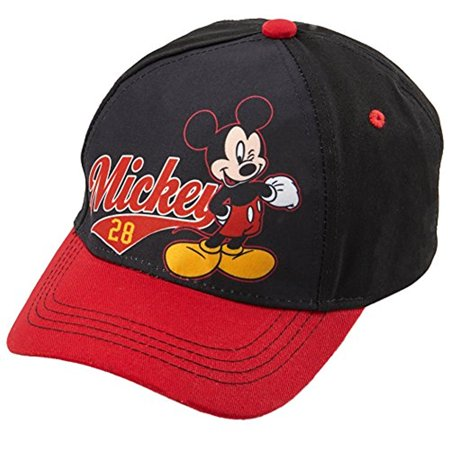 Disney Mickey Baseball (Disney Boys Mickey Mouse Cotton Baseball Cap - 100% Cotton)