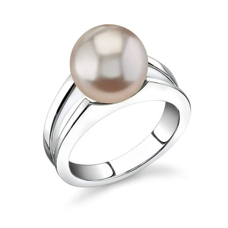 10 Mm Pearl Ring - 10mm Pink Freshwater Cultured Pearl Kasandra Ring