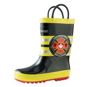 Oakiwear Kids Rain Boots For Boys Girls Toddlers Children, Fireman Rescue