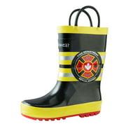 Oakiwear Kids Rain Boots For Boys Girls Toddlers Children, Fireman Rescue