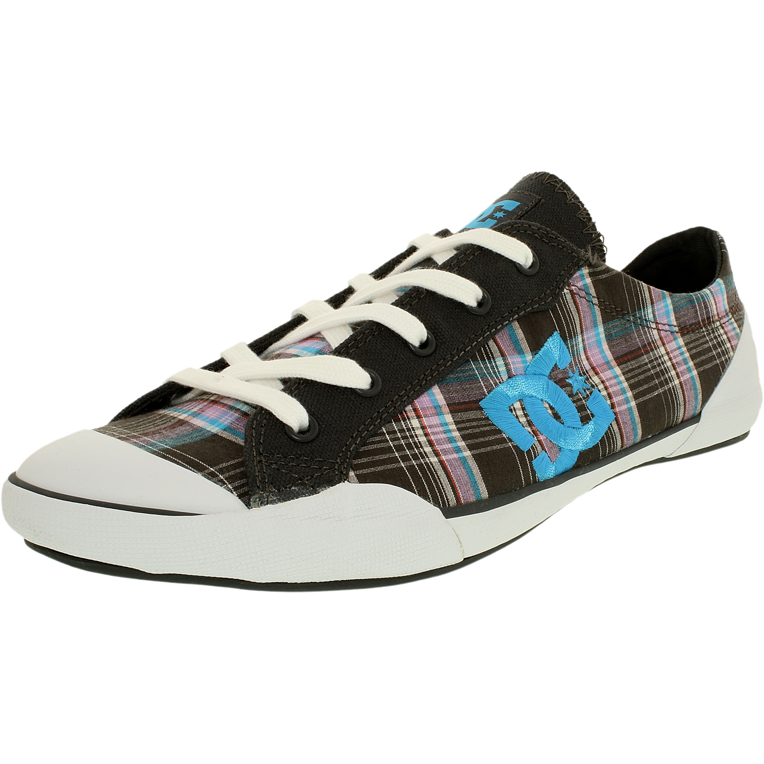 Dc Women's Chelsea Z Lse Dark Shadow/White/Turquoise Ankle-High Fabric Fashion Sneaker - 11M