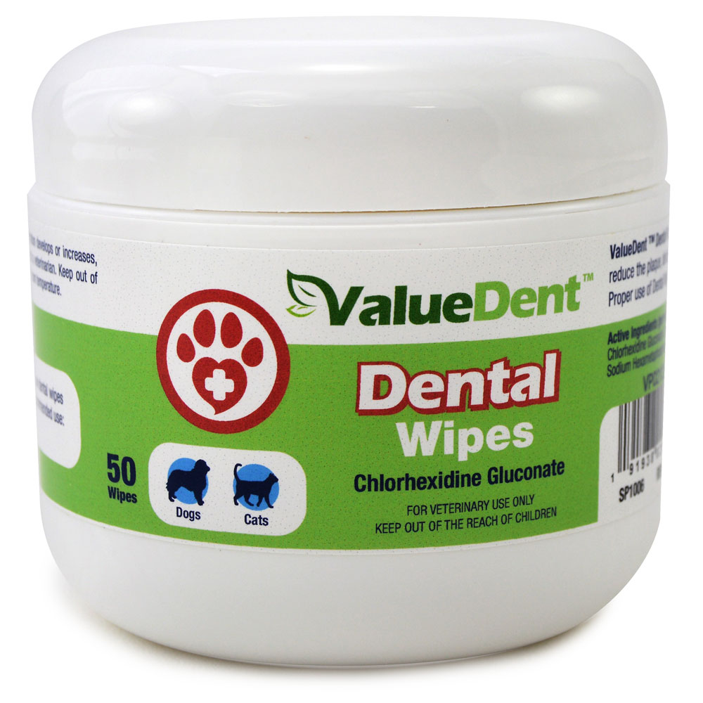 ValueDent Dental Wipes for Dogs and Cats, 50 Count
