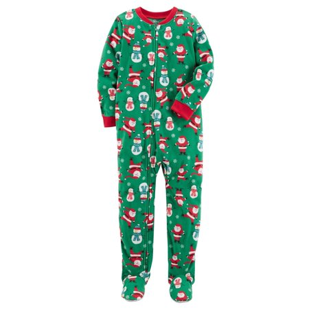 fe2dd4332 Carter s - Carter s Big Boys  1 Piece Christmas Fleece Pajamas