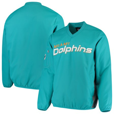 Miami Dolphins G-III Sports by Carl Banks Gridiron V-Neck Pullover Sweatshirt - Aqua