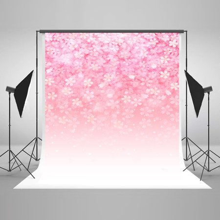 HelloDecor Polyster 5x7ft Pink Backdrops Winter Snowflakes Backgrounds Fantastic Backdrop for Children Photo Photography Video Studio Props - Snowflake Backdrop