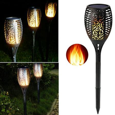 1Pcs 51/72/96LED Solar Torch Flickering Landscape Lamp Flame Garden Path Yard Light