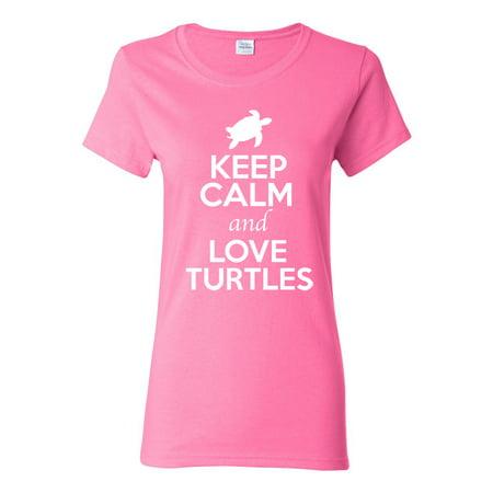 Turtles And Tortoises (Ladies Keep Calm And Love Turtles Tortoise Animal Lover T-Shirt Tee)