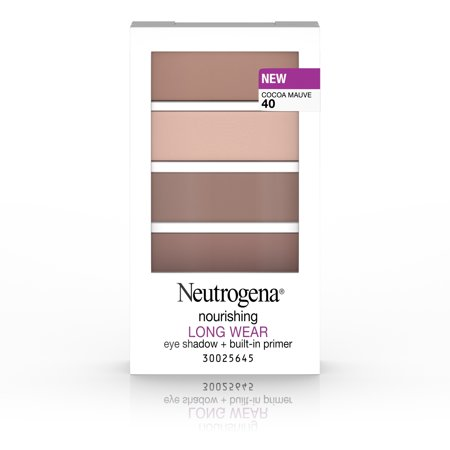 Neutrogena Nourishing Long Wear Eye Shadow + Built-In Primer, 40 Cocoa Mauve, .24 Oz
