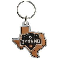 Houston Dynamo Acrylic Keychain State Logo
