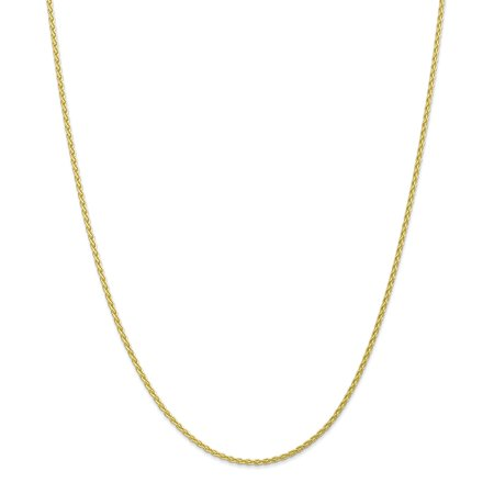 10K Yellow Gold 1.75 MM Parisian Wheat Link Chain Necklace, 24""