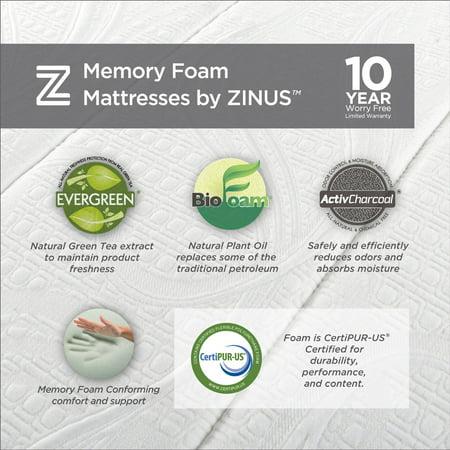 Spa Sensations By Zinus 12 Quot Memory Foam Comfort Mattress