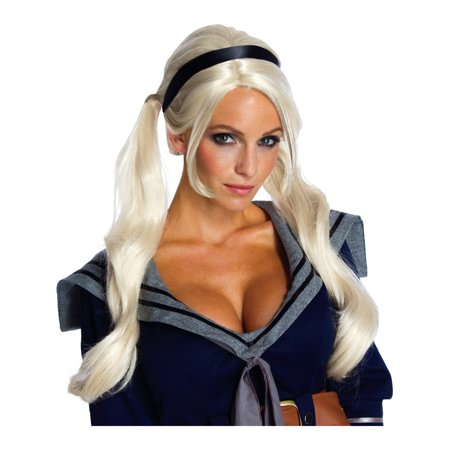 Adult Sucker Punch Babydoll Deluxe Costume Wig - Babydoll Sucker Punch Outfit