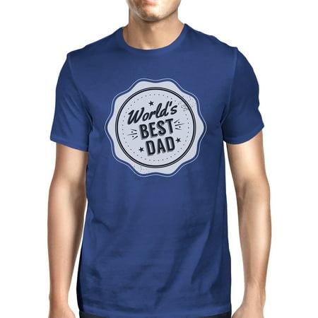 365 Printing Worlds Best Dad Mens Blue Cotton T-Shirt Vintage Design Graphic (Best Rb In The World)