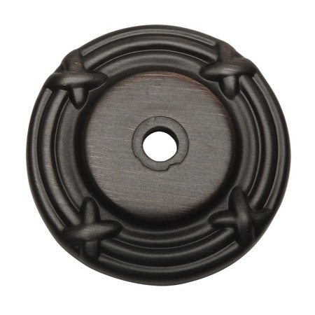 Cosmas 9468ORB Oil Rubbed Bronze Cabinet Hardware Knob Backplate / Back Plate