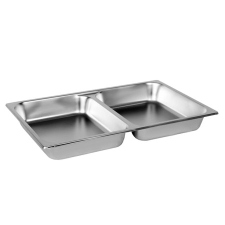 Thunder Group STPA7022, Full Size 2 1/2-Inch Deep 24 Gauge Steam Pan, Divided Pan, Stainless Steel, Rectangular