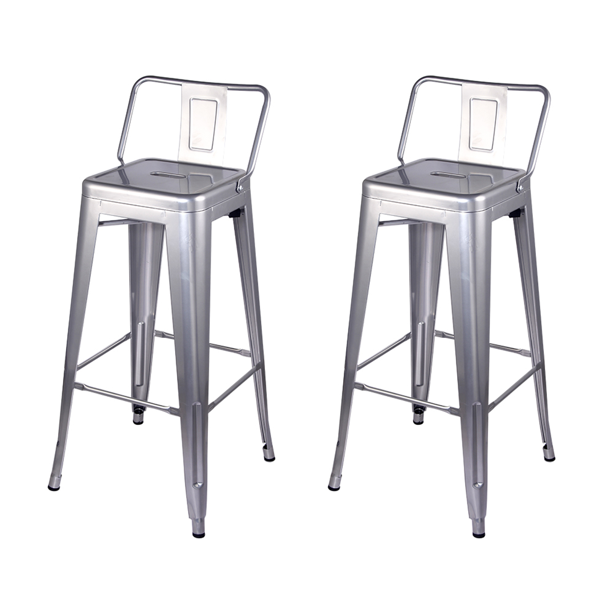 1-Pack Black GIA 30-Inch Low-Back Bar Height Stool
