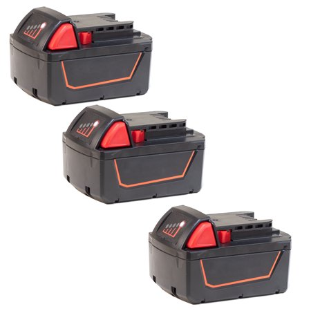 Replacement for Milwaukee M18 Power Tools Battery - 48-11-1850 5000mAh (3 Pack) ()