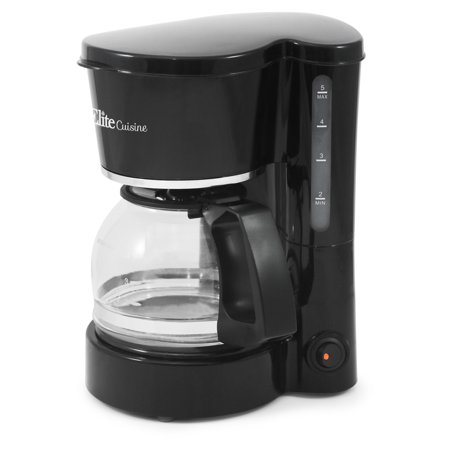 Elite Cuisine EHC-5055 5-Cup Coffeemaker with Pause & (5 Cup Programmable Coffee Maker)