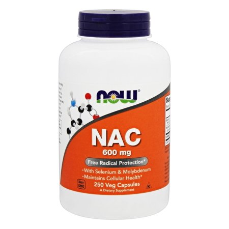 NOW Foods - NAC N-Acetyl Cysteine 600 mg. - 250 Vegetarian