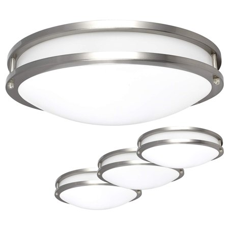 low cost ed17e 7b897 Luxrite LED Flush Mount Ceiling Light, 16 Inch, Dimmable, 4000K Cool White,  1960lm, 26W Ceiling Light Fixture, Energy Star & ETL - Perfect for ...