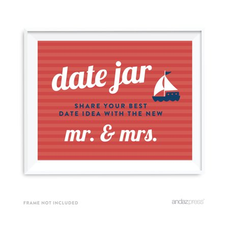 Date Jar - Share Best Date Idea Nautical Ocean Adventure Wedding Party
