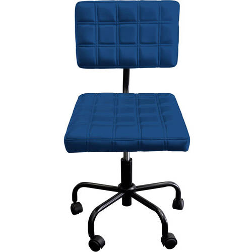 Urban Shop Quilted Computer Chair, Navy Blue