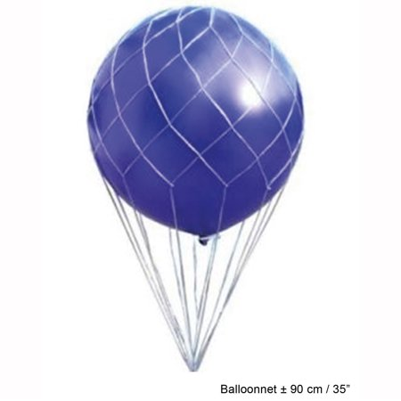 Balloon Drop Nets (Funny Fashion Party Supplies Hot Air Balloon Net for 3' Balloons,)