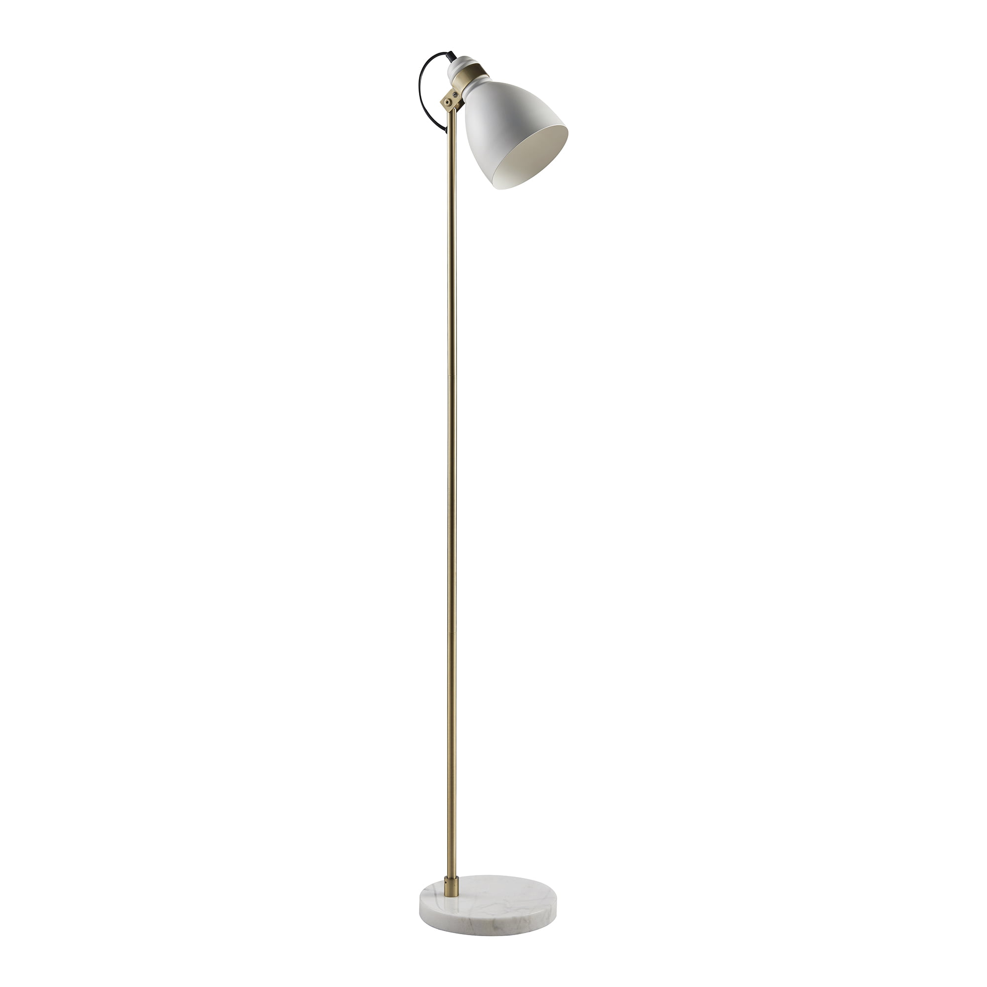 Versanora Quincy Floor Lamp With White Marble Base