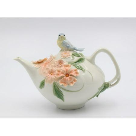 Cosmos Gifts 10 Oz. Porcelain BlueBird Apple Blossom -