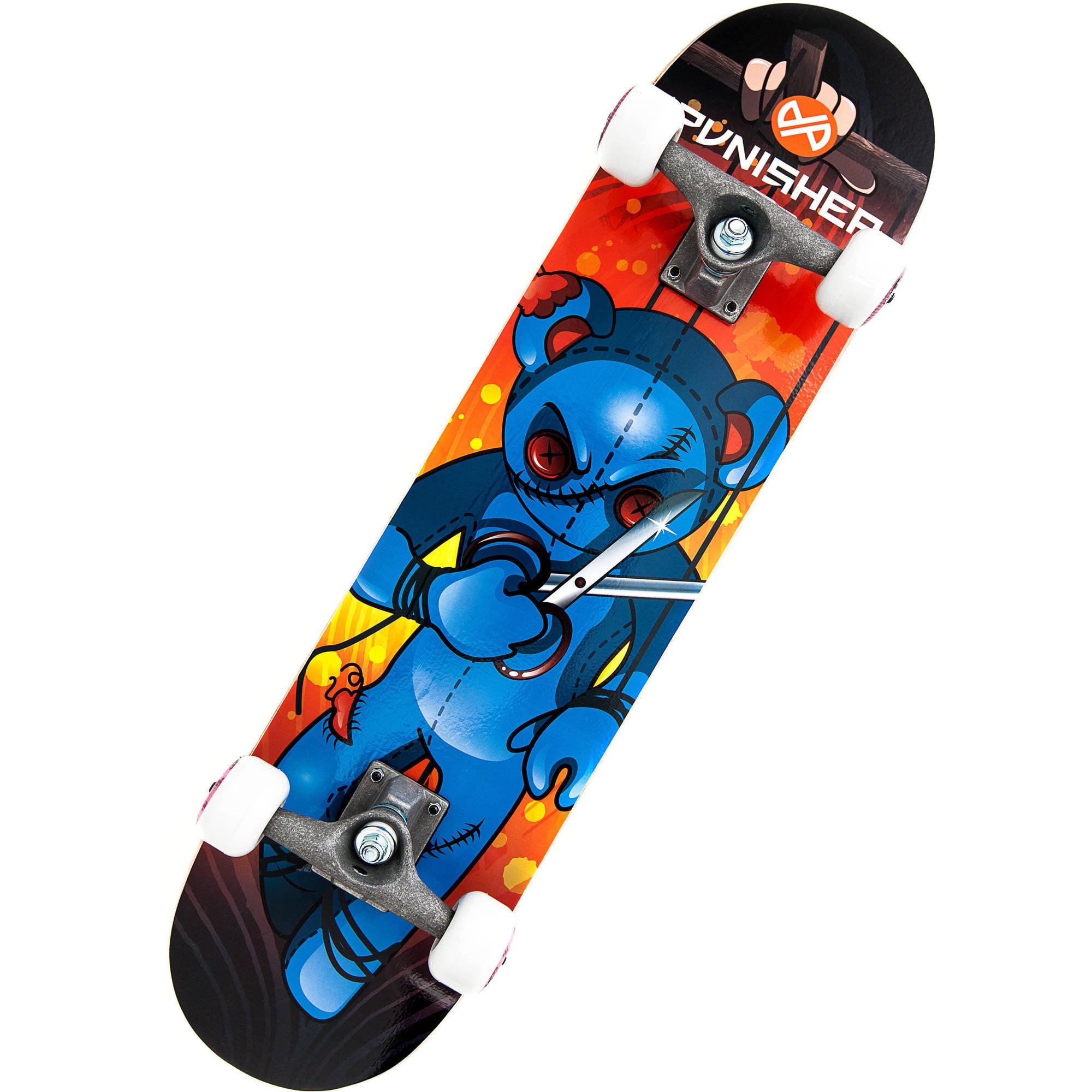 """Punisher Skateboards Puppet 31.5"""" ABEC-7 Complete Skateboard"""