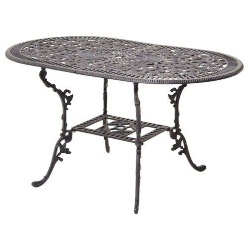 JJ International Rose Series Oval Dining Table