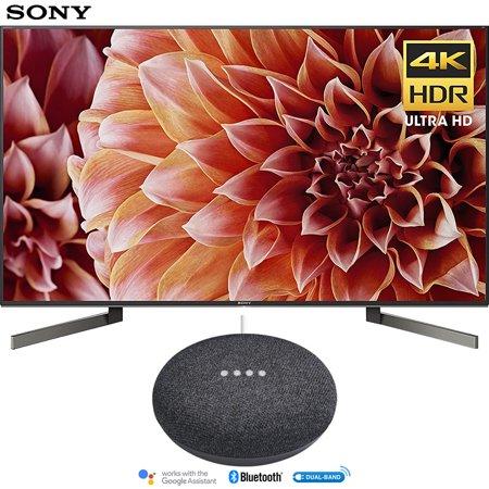Sony XBR55X900F 55-Inch 4K Ultra HD Smart LED TV (2018 Model) with Google Home Mini (Charcoal)