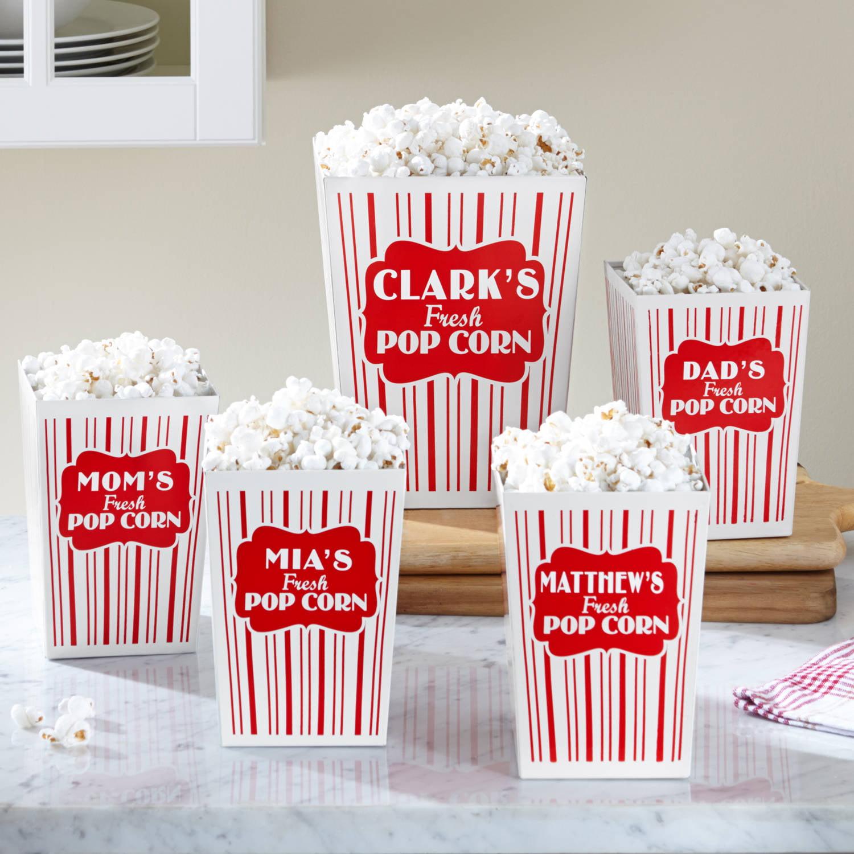 Personalized Movie Night Popcorn Bucket Set, Family - Walmart.com