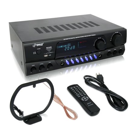 Pyle 300 Watts Digital AM/FM/USB Stereo Receiver (PT560AU)