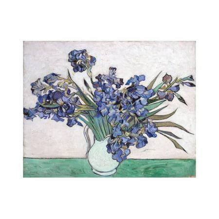 Irises Print Wall Art By Vincent van Gogh (Van Gogh Glass)