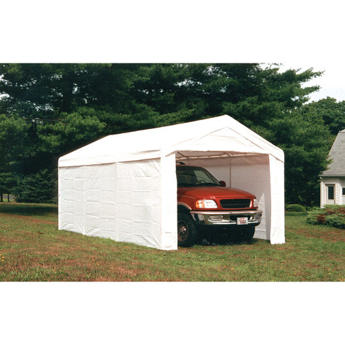 Click here to buy Super Max 2-in-1 10' x 20' 4-Rib Canopy with Enclosure Kit by ShelterLogic.