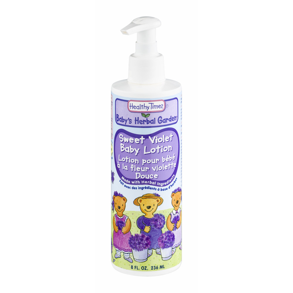 Healthy Times Baby's Herbal Garden Sweet Violet Baby Lotion, 8.0 FL OZ