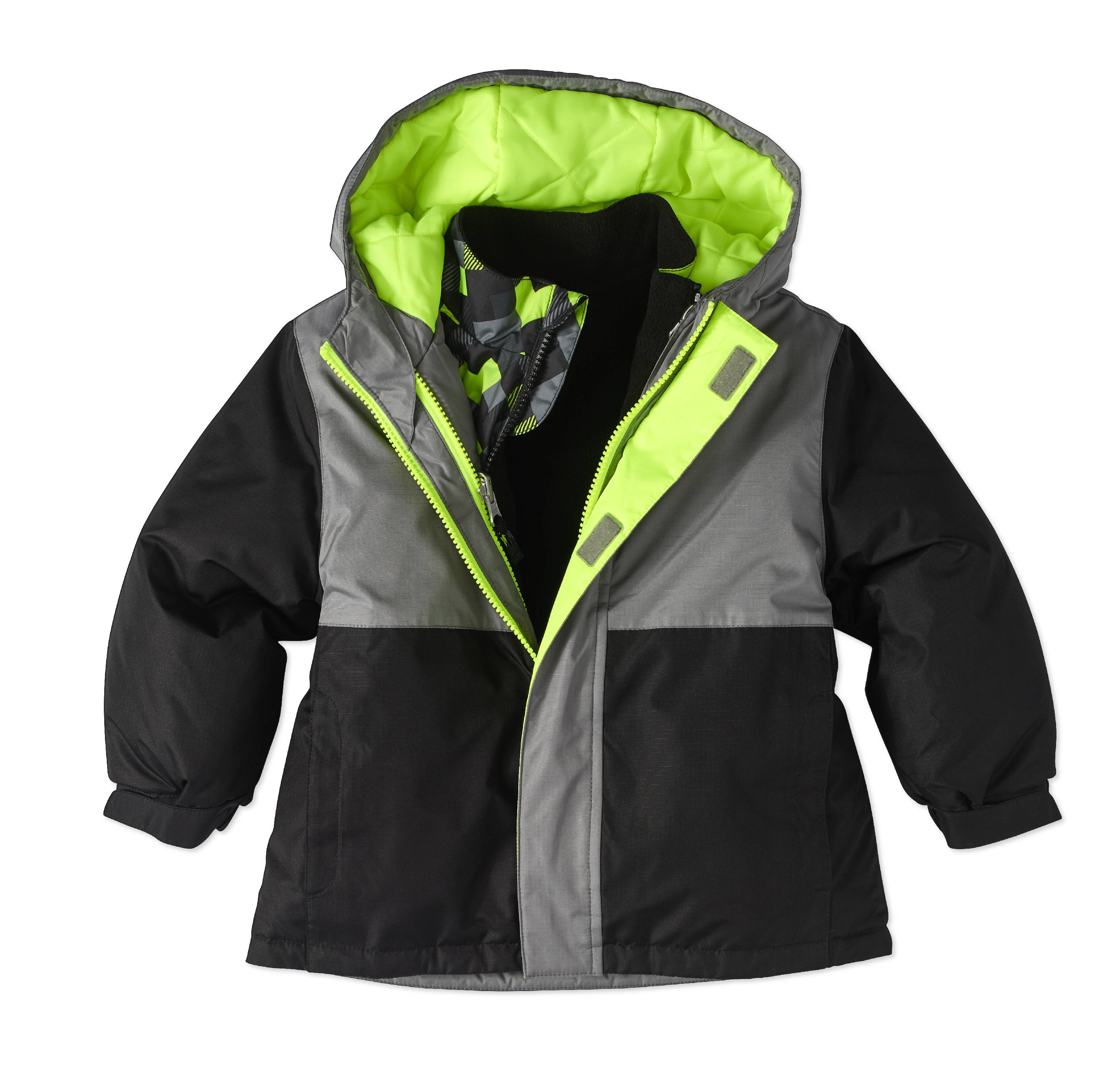 Healthtex Baby Toddler Boy 3 In 1 Ski/Snowboard Jacket W/ Removable Inner Layer