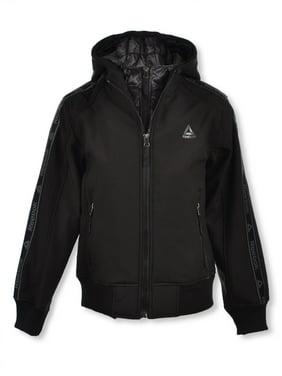 Reebok Boys' Logo Taped Hooded Jacket