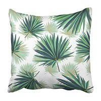 USART Colorful Tree Tropical Palm Leaves Jungle Floral Pattern Green Beach Beauty Pillowcase Cushion Cover 18x18 inch