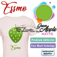 "ESSMO Green Apple Matte Solid Heat Transfer Vinyl HTV Sheet T-Shirt 20"" Wide Iron On Heat Press 20""x24"""