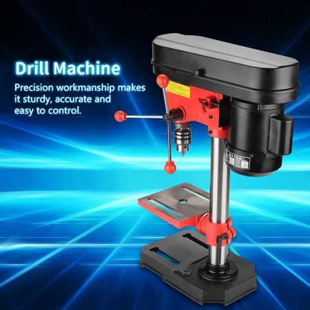 TOPINCN Mini Bench Drill Press Stand Workbench Mounted 350W 5 Speed 50mm US Plug 110V,Workbench Repair Tool