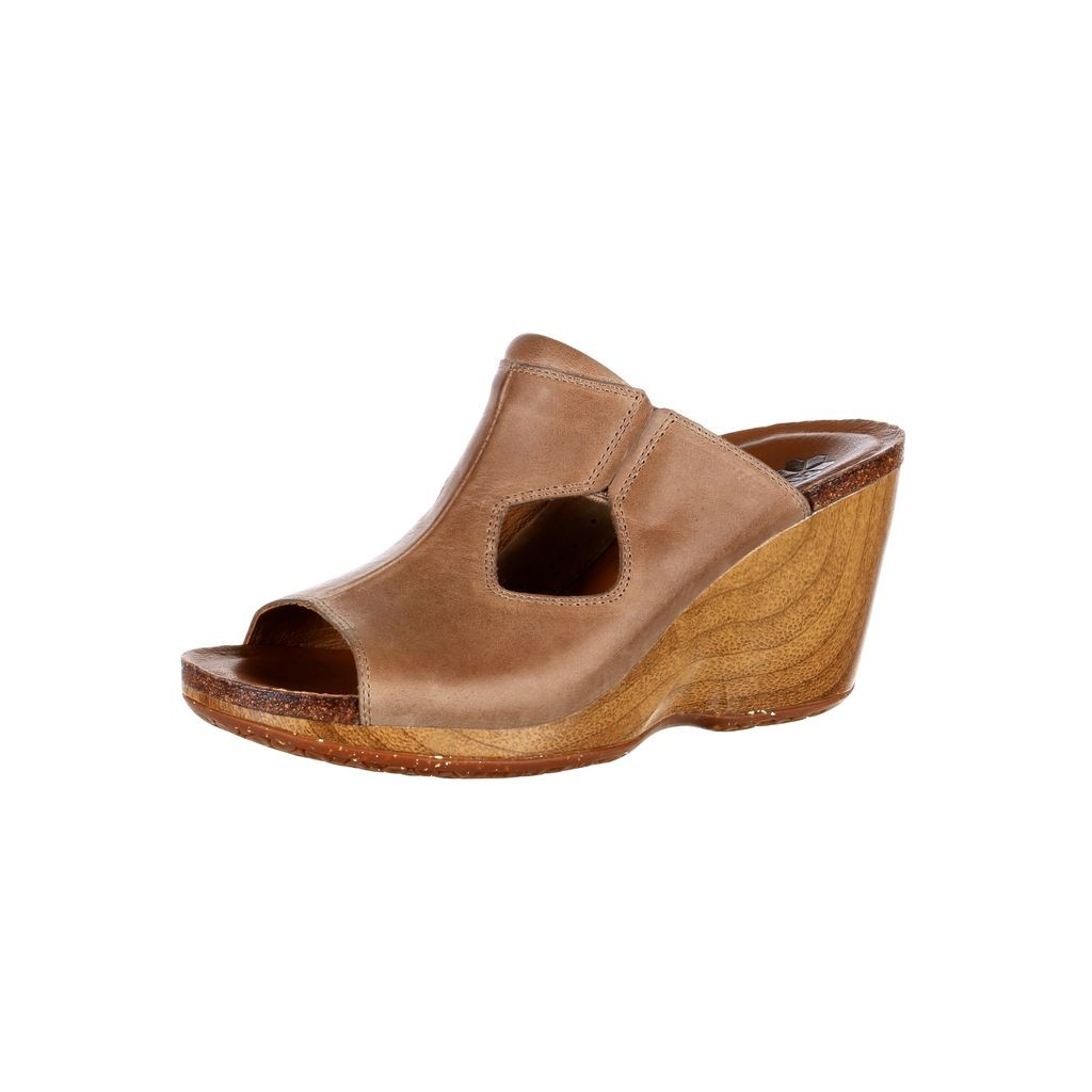 Rocky 4EurSole Casual Shoes Womens Joyful Slide Leather Brown RKH080