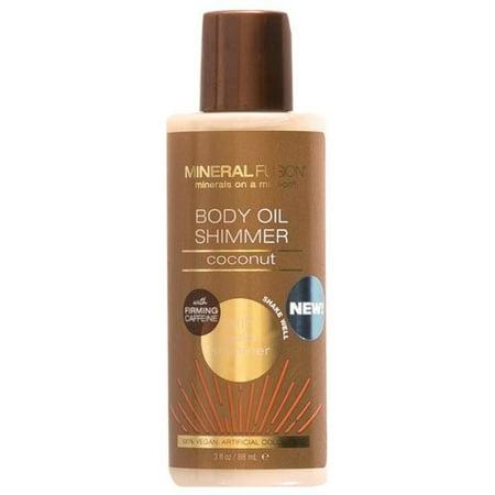 Shimmering Oil - Mineral Fusion 3 oz Body Oil Shimmer Coconut Gold