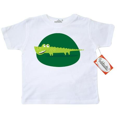 Inktastic Alligator Kids Jungle Animals Toddler T Shirt Crocodile Cute Scary Reptile Green Safari Pets Funny Tees  Gift Child Preschooler Kid Clothing Apparel Hws
