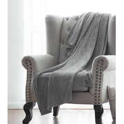 Microlight Solid Fleece Throw Blankets