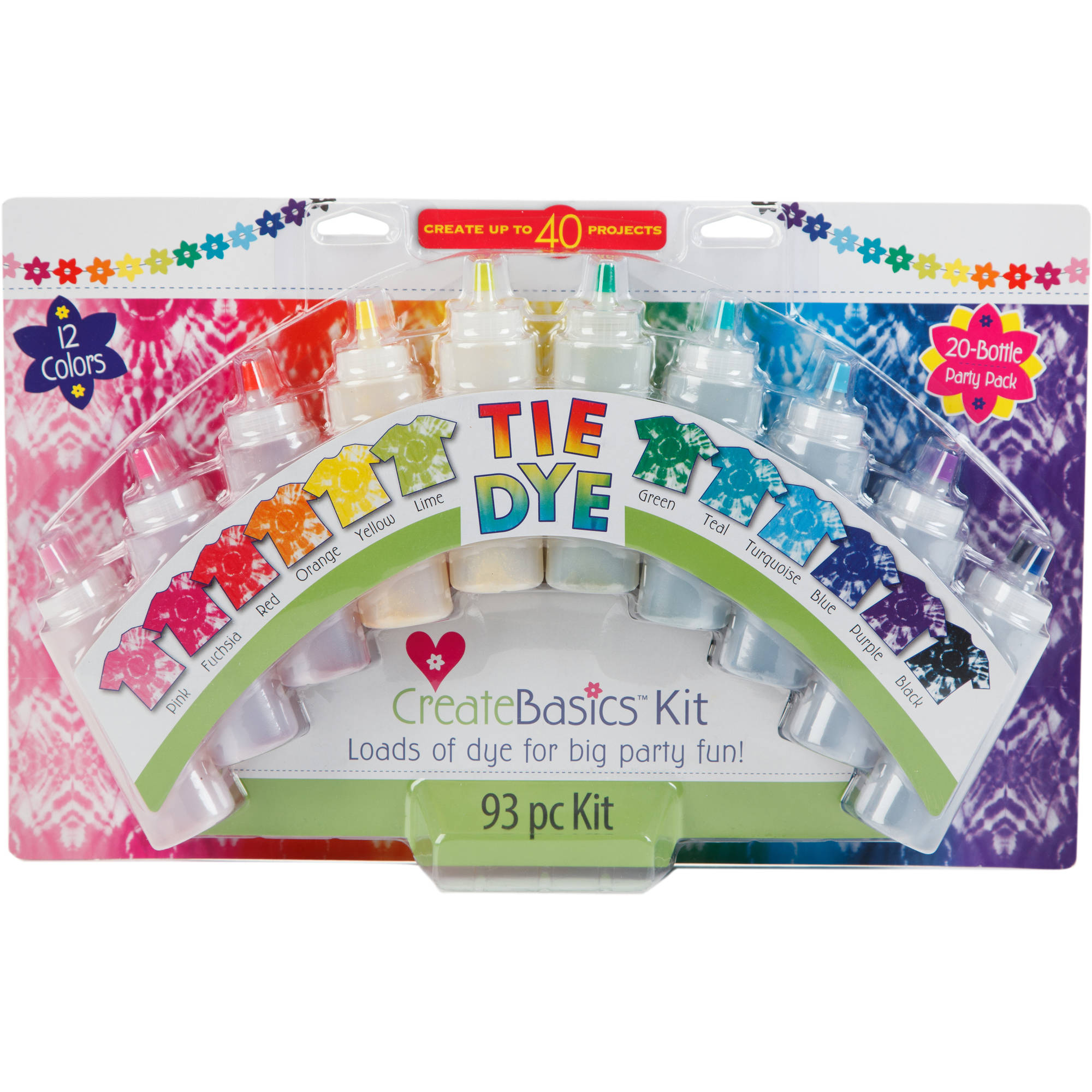 Create Basics 20-Color Tie Dye Party Kit