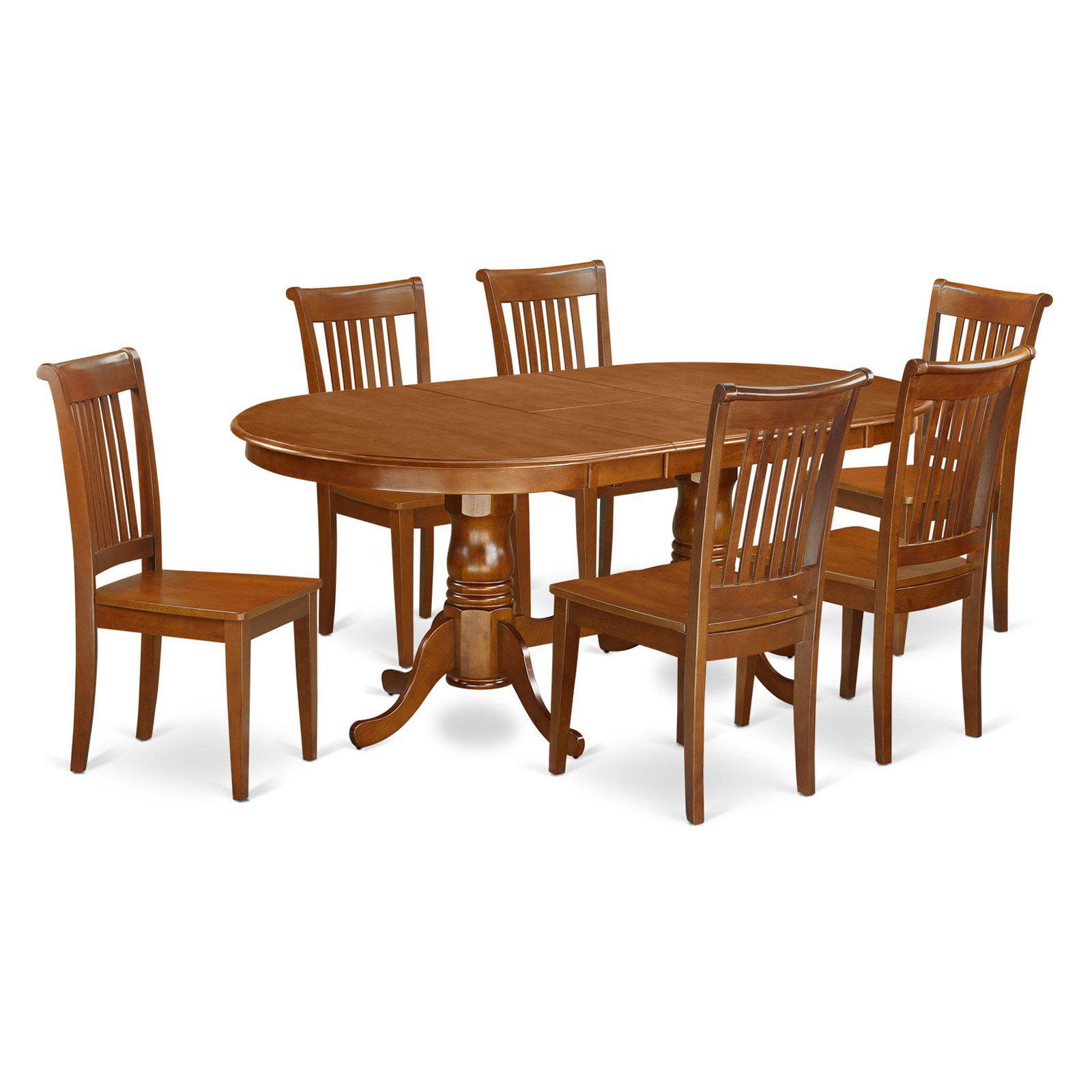East West Furniture Plainville 7 Piece Windsor Dining Table Set